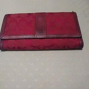 Dark red Coach wallet